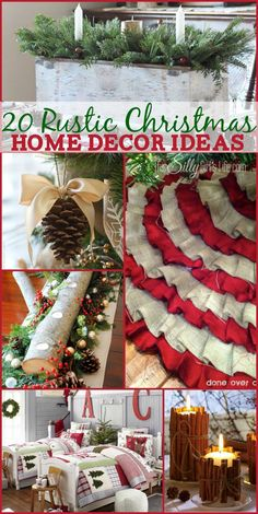 20 Rustic Christmas Home Decor Ideas, gorgeous, rustic and nature inspired ideas for you Christmas home decorating! - ThisSillyGirlsLife.com