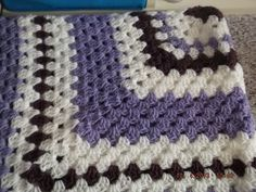 Crochet Blanket Granny style  Cuddle blanket (nannycheryl original) ID 758 (A) £40.00
