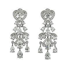 Carter - L'Odyssée de Cartier Collection - Platinum & Diamond Earrings