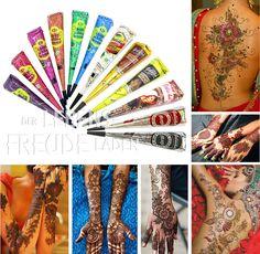 12x Golecha Henna Farben/Multicolour Kegel á 25g Hennapaste - Klinisch getestet! | eBay