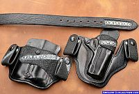 custom stingray 1911 concealed carry holster pouch and belt Concealment Holsters, Custom Leather Holsters, Concealed Carry Holsters, Pocket Holster, Pistol Holster, Revolver, Paddle Holster, Western Holsters, Leather Projects