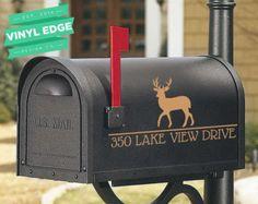 Set of 2 Custom Last name Initial & Street Number Mailbox