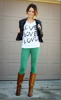 ways to wear a graphic tee | DIY Graphic Tee: Give Your Tee Some LOVE- Fashion Contributor ~ Sugar ...