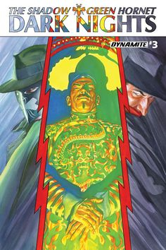 The Shadow / Green Hornet: Dark Nights #3 - Alex Ross Cover
