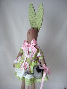 Bunny/ Rabbit doll/Bunny doll/ Tilda by HappyBunnyHandmade on Etsy