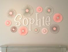 Items similar to Pink, Grey and Polka Dot Set of 10 (Ten) paper fans/rosettes, decorations for Girl Baby Shower,Birthday Party or Wedding on Etsy Paper Rosettes, Paper Flowers, Baby Girl Birthday, 1st Birthday Parties, Birthday Ideas, Polka Dot Party, Paper Fans, Pink Polka Dots, Girl Shower