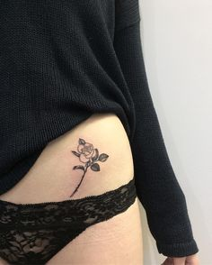 "938 Likes, 7 Comments - h i d d e n m o o n (@juju.tattoos) on Instagram: ""So nice to see you again kitty x x x #jujutattoo #rosetattoo #botanicaltattoo #flowertatoo…"""