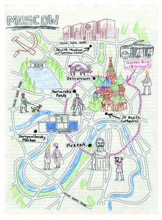 Moscow map by Robert Littleford