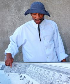 Derek Bason, a former political prisoner who now gives tours of Robben Island.