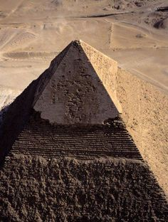 The Pyramid of Khafre, also known as the Pyramid of Chefren, from the air, Egypt