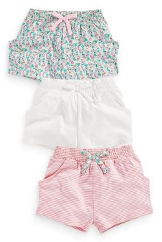 Buy Three Pack Shorts (3mths-6yrs) from the Next UK online shop