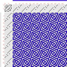 Hand Weaving Draft: Page 190, Figure 22, Donat, Franz Large Book of Textile Patterns, 8S, 8T Max float 3 - Handweaving.net Hand Weaving and Draft Archiv...