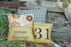 Tutorials sewing these Fall Blessing Pillows