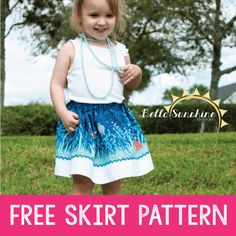 FREE GIRLS PDF SEWING PATTERN: Isabella's Banded Skirt for Girls - PDF Sewing Pattern by Bella Sunshine Designs for sizes 12m through girls 10 - Such a high quality free pattern! I know this would look great on my little girl! Repin for later!