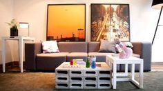 Check out these few carefully selected and very interesting DIY ideas that include concrete blocks in the interior and exterior space. Interior Architecture, Interior And Exterior, Interior Design, Cama Industrial, Diy Furniture, Outdoor Furniture Sets, Diy Wall Shelves, Concrete Blocks, Home Living Room
