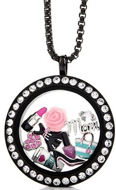 One of my all-time favorite lockets! The black face with Swarovski crystals, paired with the most diva-worthy charms!