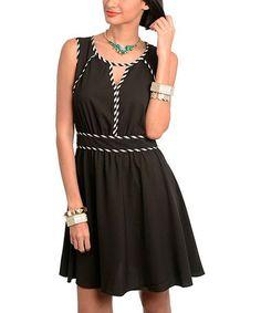 Another great find on #zulily! Black Cutout Dress #zulilyfinds
