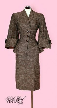 1950's Lilli Ann Brown Skirt Suit    my mother had a suite almost identical to this one