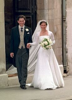 The 1994 wedding of Princess Margaret's only daughter Lady Sarah Armstrong-Jones to Daniel Chatto.