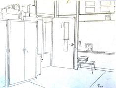 Two-Point Perspective: Classroom Corner