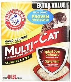 Arm  Hammer MultiCat Litter 40 Lbs ** Check this awesome product by going to the link at the image.(This is an Amazon affiliate link and I receive a commission for the sales)
