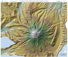 Lidar mosaic imagery of Mount Hood and surrounding area, Oregon, by the Oregon Department of Geology and Mineral Industries