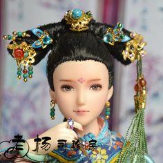1/6小头娃娃古代盘发—【舒穆禄.馨冉】/古装/可儿/obitsu.-淘宝网全球站
