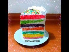 RECETA: TORTA ARCOIRIS PASO A PASO - Silvana Cocina y Manualidades - YouTube