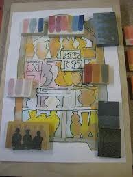 Materiaal onderzoek is een deel van het beeldend proces: Dit zijn glazuurproeven