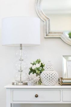 Oh how we love the Lily Table Lamp 💙 With it's stylish metal and glass base, it compliments so many styles to perfection 👌 Hamptons Style Bedrooms, Hamptons Living Room, Hamptons Style Decor, The Hamptons, Hamptons House, Sofa Table Decor, Table Lamp, Blue Lounge, Room Lamp