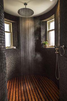 ❤ Check Out 25 Inspiring Rustic Bathroom Ideas - Traumhaus Dream Home Design, Home Interior Design, Dream House Interior, Beautiful Houses Interior, Rustic House Design, Beautiful Home Interiors, Interior Ideas, Exterior Design, Interior Inspiration