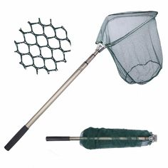 GOTURE TRIANGULAR LANDING NET 40X40CM FOLDABLE FISHING NET WITH ALUMINUM 3 SECTION EXTENDING POLE FISHING NETWORK