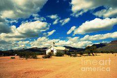 White Creek church in Old Tuscon movie studios in Arizona