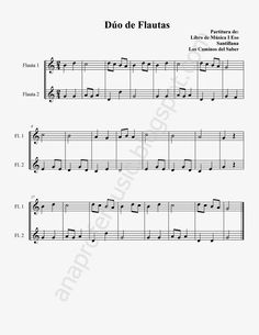 Ana Music: Partitura Dúo de Flautas Fácil