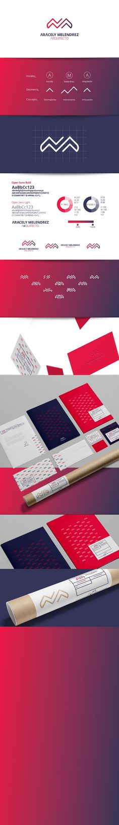 Aracely Melendrez Arquitecto - Identity Branding, Graphic Design, Pattern Design: