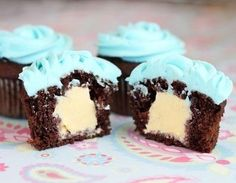 Ice Cream Filled Cupcakes
