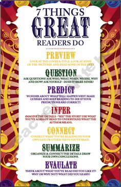 7 awesome strategies for your young readers to keep in mind as they grow in their reading. Enjoy! $0