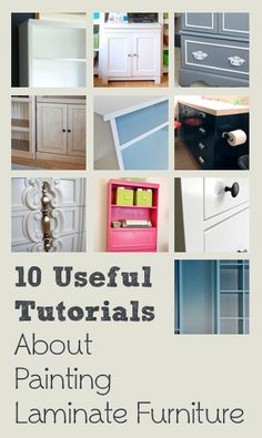 10 Useful Tutorials About Painting Laminate Furniture – By Top Bloggers Image