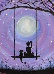 """Képtalálat a következőre: """"moon tree crow woman"""""""