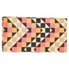 Handmade By Me: Vintage Tea Towel Pink Textile Patterns, Textile Design, Textiles, Geometric Pattern Design, Hearth And Home, Decorative Storage, Vintage Tea, Decoration, Tea Towels