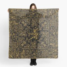 """""""Mayan Spring GOLD"""" Scarf by GrandeDuc 