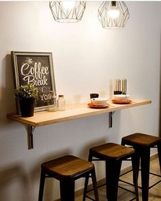 The Best Kitchen Table Bar Design Ideas Coffee Bar Home, Home Coffee Stations, Diy Kitchen, Kitchen Decor, Pub Kitchen Table, Home Bar Counter, Cafe Counter, Bar Table Sets, Small Bar Table