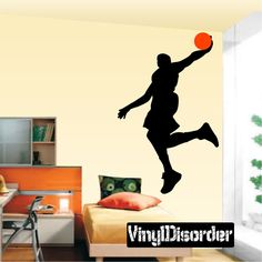 Basketball Wall Decal - Vinyl Decal - Car Decal - BA013