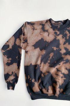 Bleach Tie Dye Discover Copper Black Inverse Tie Dye Fleece: Crew or Hoodie Tye Dye, Bleach Tie Dye, Bleach Dye Shirts, Bleach Pen, Bleach Hoodie, Tie Dye Hoodie, Black Tie Dye Shirt, Cute Tie Dye Shirts, Tie Dye Jeans