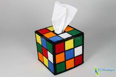 Rubik's cube tissue holder