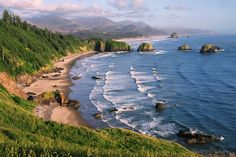 Ecola State Park Oregon Coast...so beautiful, there was a heavy mist when we went that made it so magical.