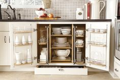 Clean up your act! If you live in a condo or townhouse, make full use of available space. Keep everything within easy reach with kitchen storage and organization.