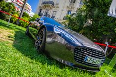Aston Martin Rapide S in front of the Grand Hotel in Cannes, France