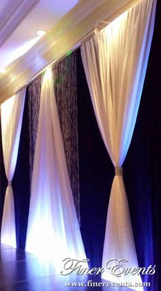 Backdrops are decor masterpieces that are the focal point at weddings and events. The designers at Finer Events have created breathtaking backdrops at numerous venues across Toronto, Woodbridge, Vaughan, Mississauga and Brampton regions. Backdrops create the perfect artistic framing for a head table, stage or any other area of interest to you. We will provide … … Continue reading →