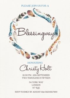 Blessingway Invitation // Mother Blessing by GreenDoorHandmade